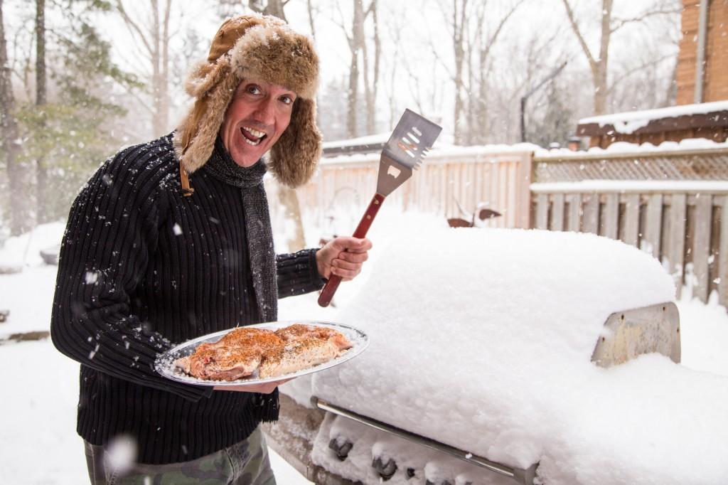 Happy winter griller