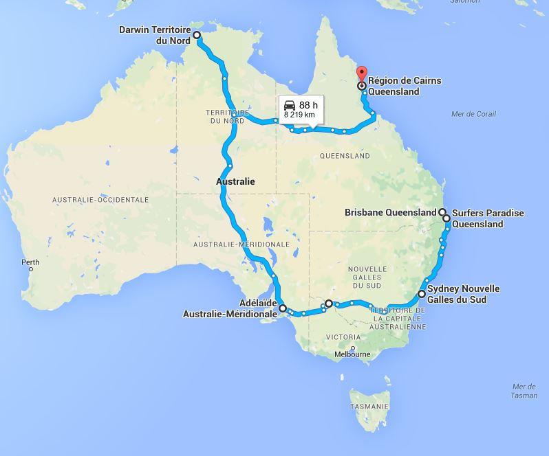 itinéraire marion australie
