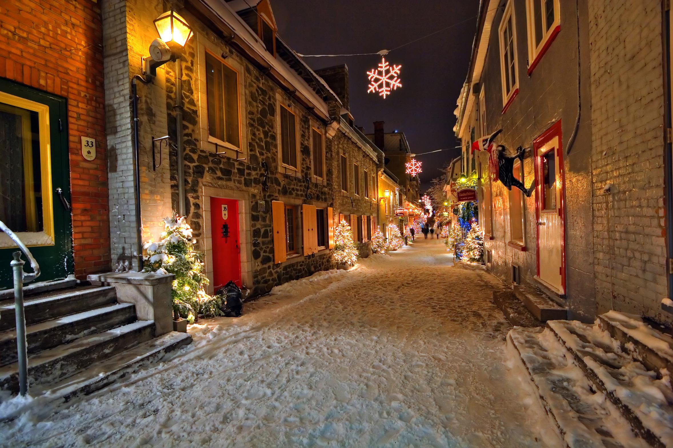 Top 10 des endroits où passer les fêtes de Noël au Canada