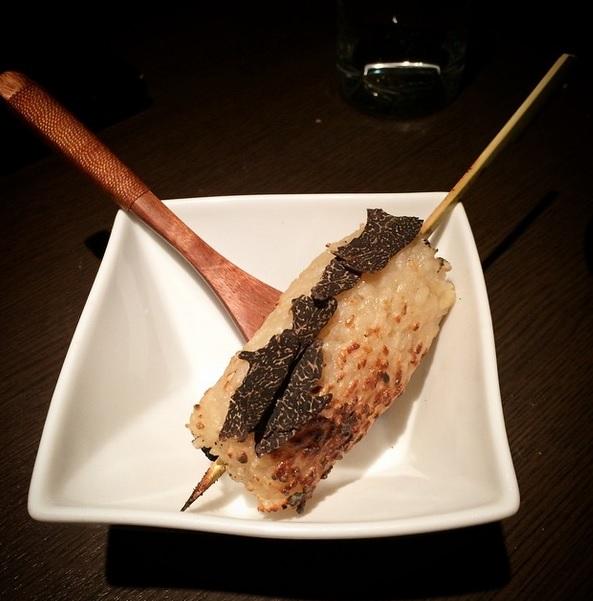 Yummy ! Truffle yaki-onigiri (riz sauté à la sauce soja ! )