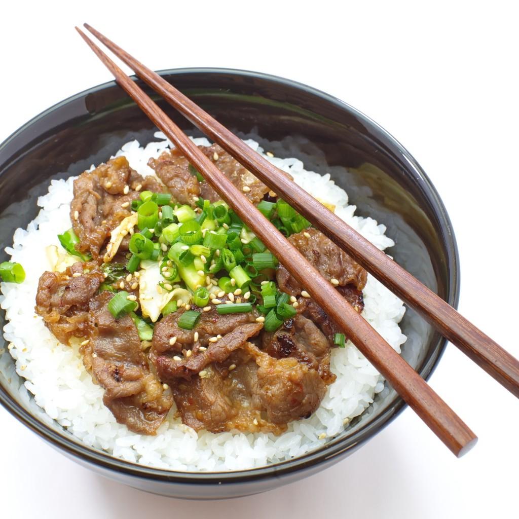 beef bowl , japanese food
