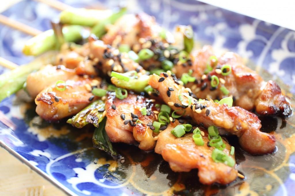 Japanese cuisine Grilled ,teriyaki skewers Yakitori
