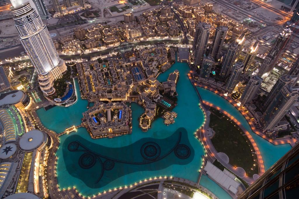 vue du haut de la tour burj khalifa