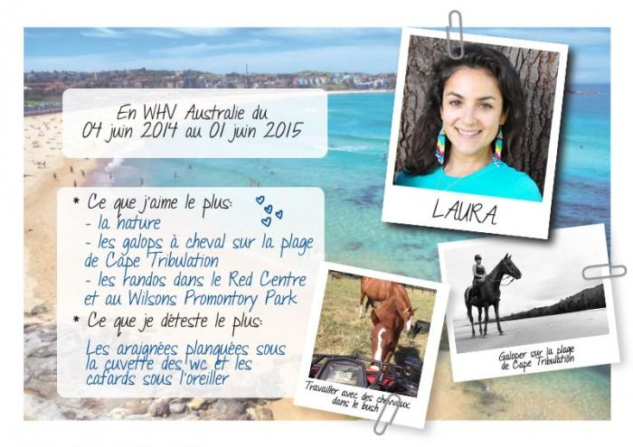 «Je me suis occupée de chevaux dans la Hunter Valley en Australie», Laura, backpackeuse