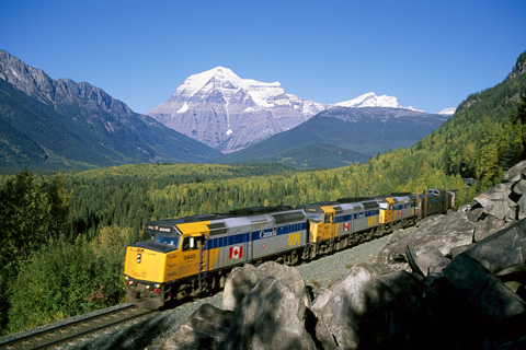 Photo d'un train au Canada en PVT