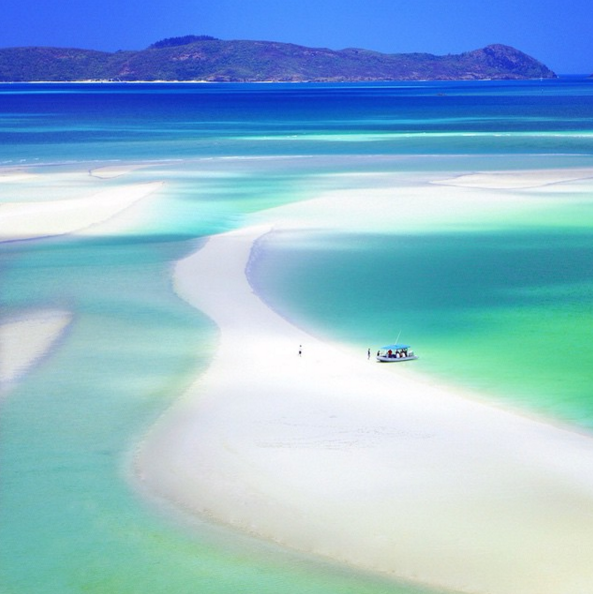 Photo de White Heaven Beach dans les Whitsundays en Australie en WHV.
