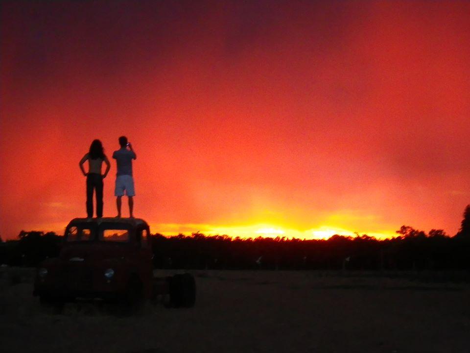 Coucher de Soleil Mildura Australie