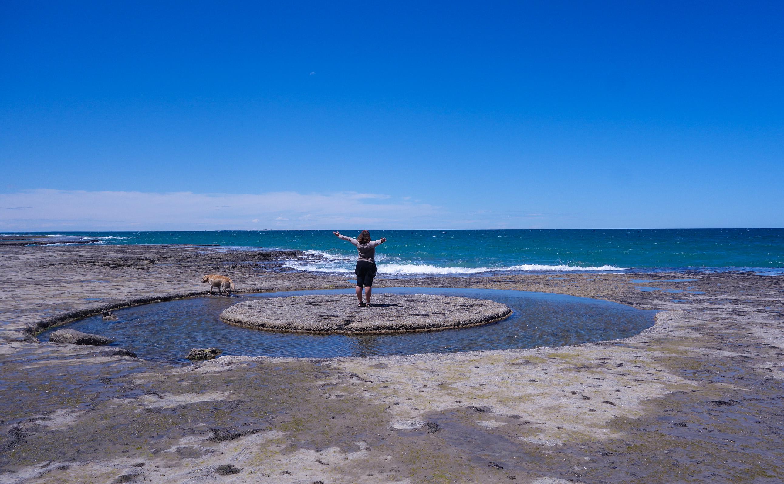 Lucie à la découverte de la côte argentine