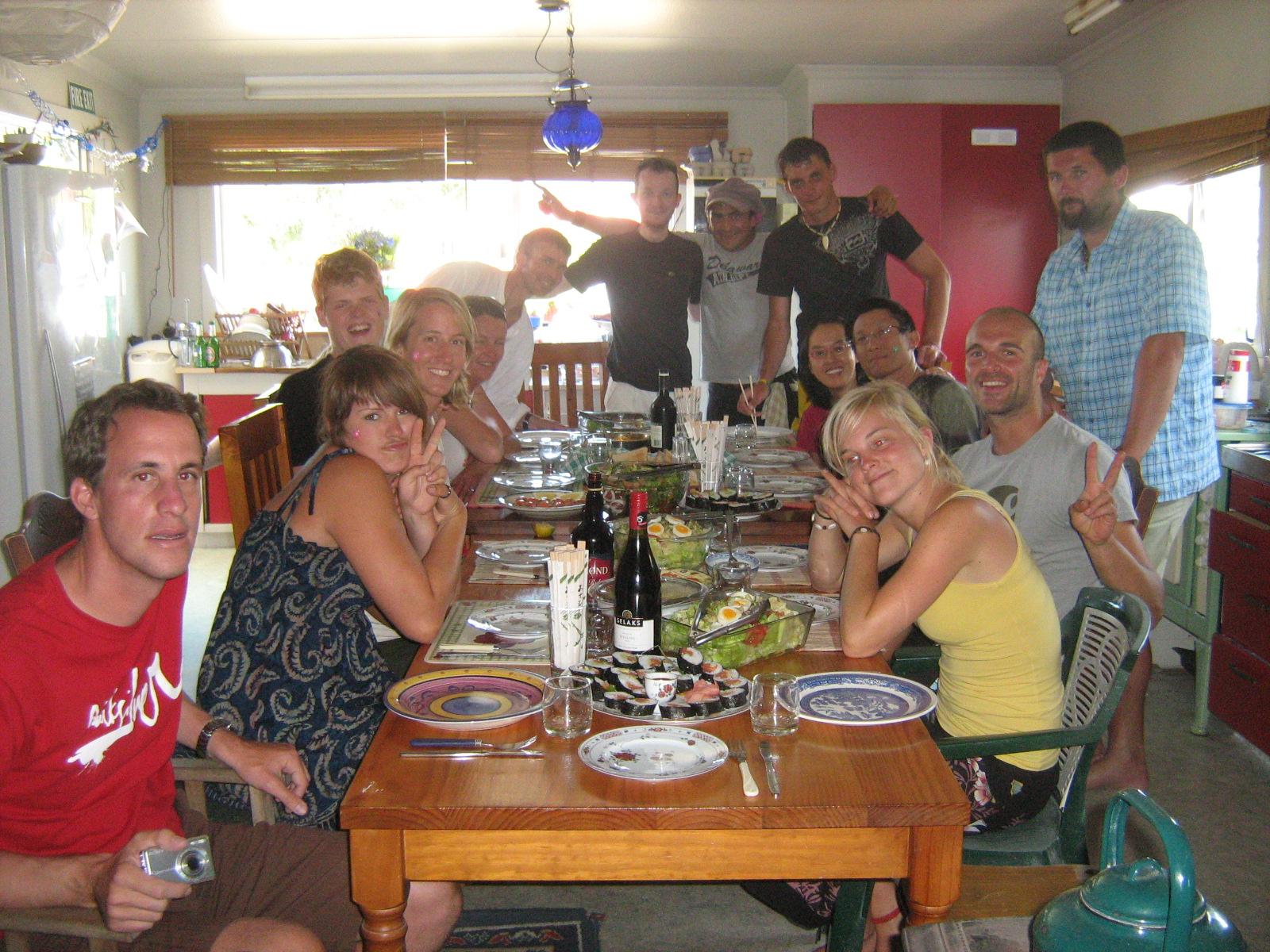 Repas de Noel en Nouvelle Zelande