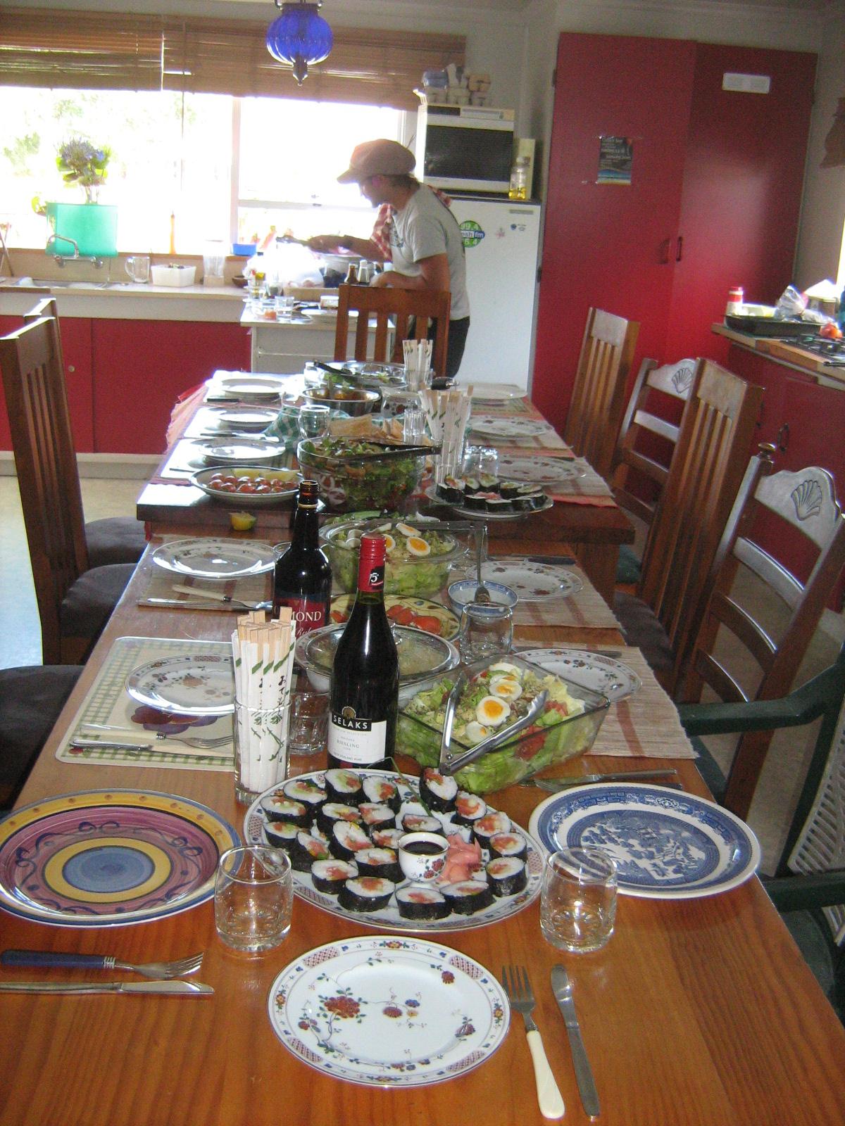 Table de Noel en Nouvelle Zelande
