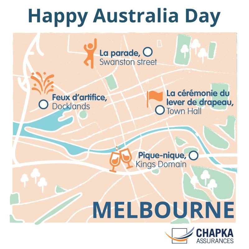 carte Melbourne Australia Day