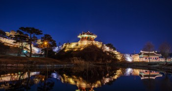 Hwaseong fortress in Suwon,Korea