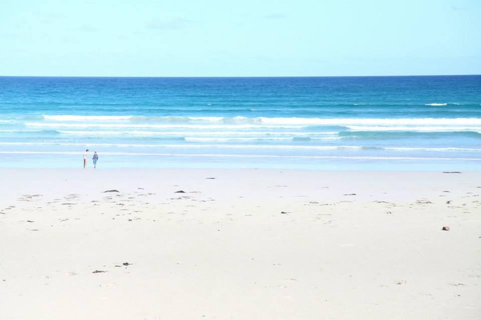 plage le long de la great ocean road