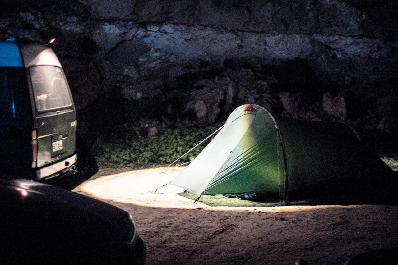 La tente du road trip