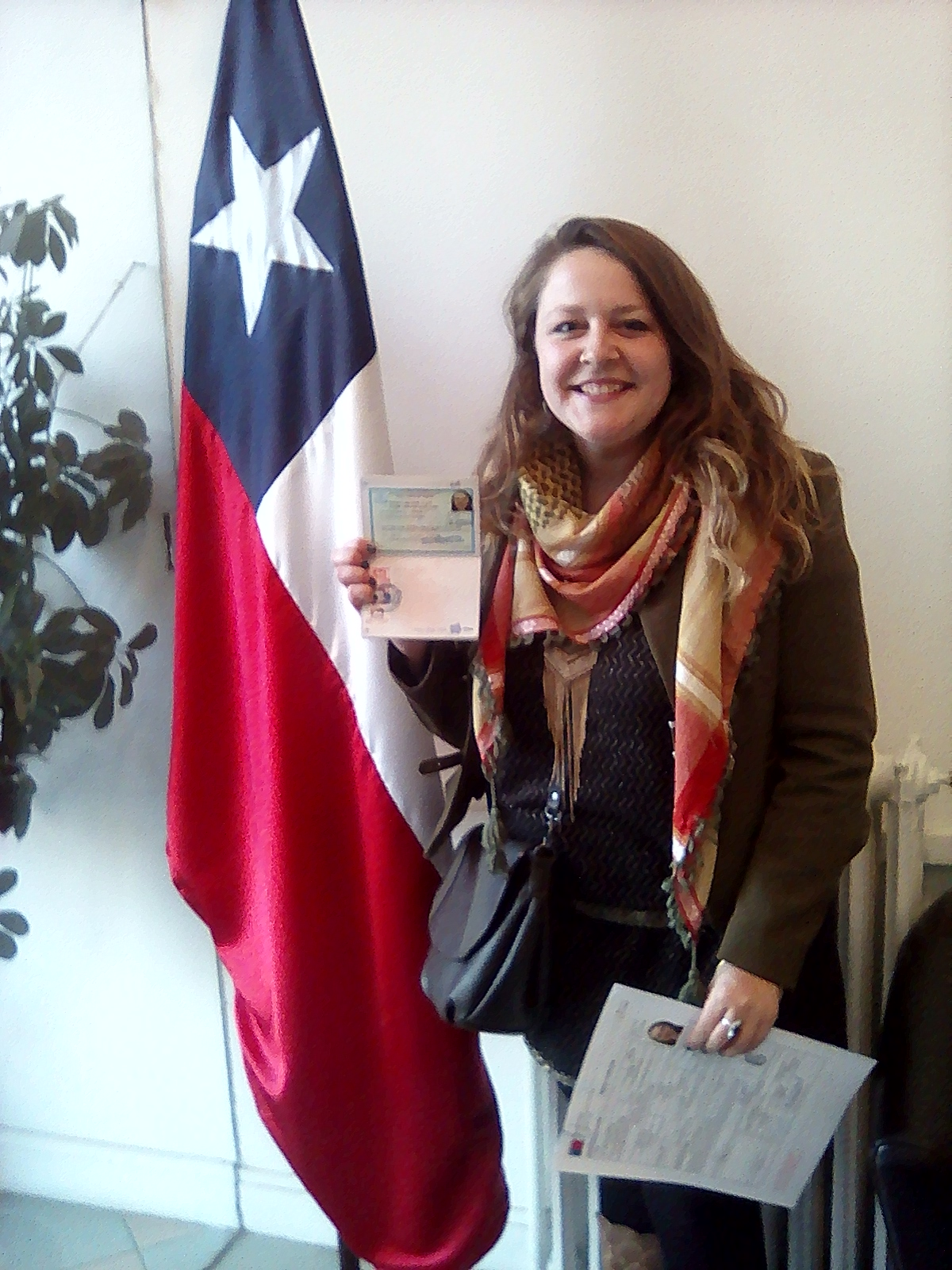 Geraldine ambassade avec PVT Chili
