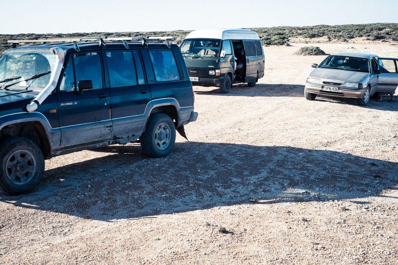 Les voitures et van pour le road trip
