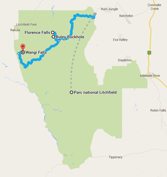 litchfield itineraire