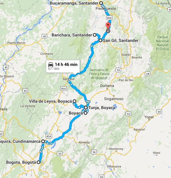 road trip bogota santa marta