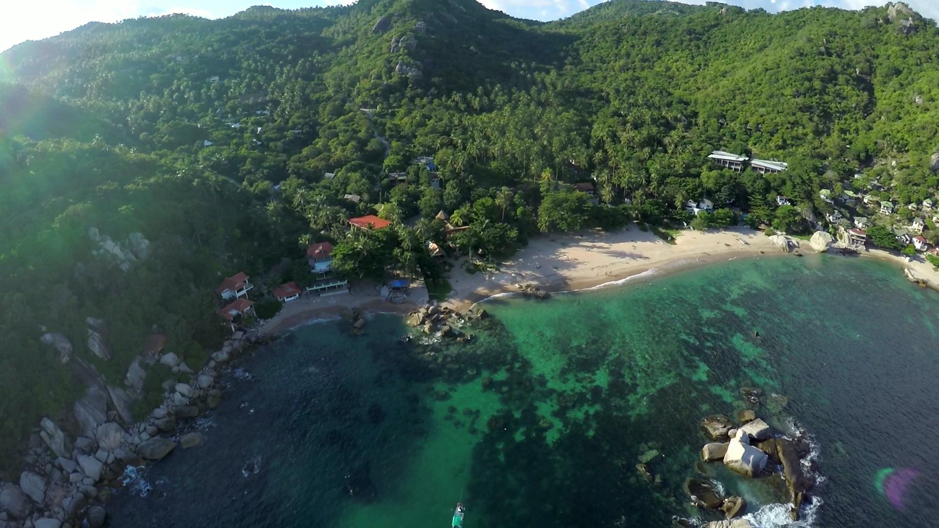 vue aérienne de Ko Tao dans Génération Expat