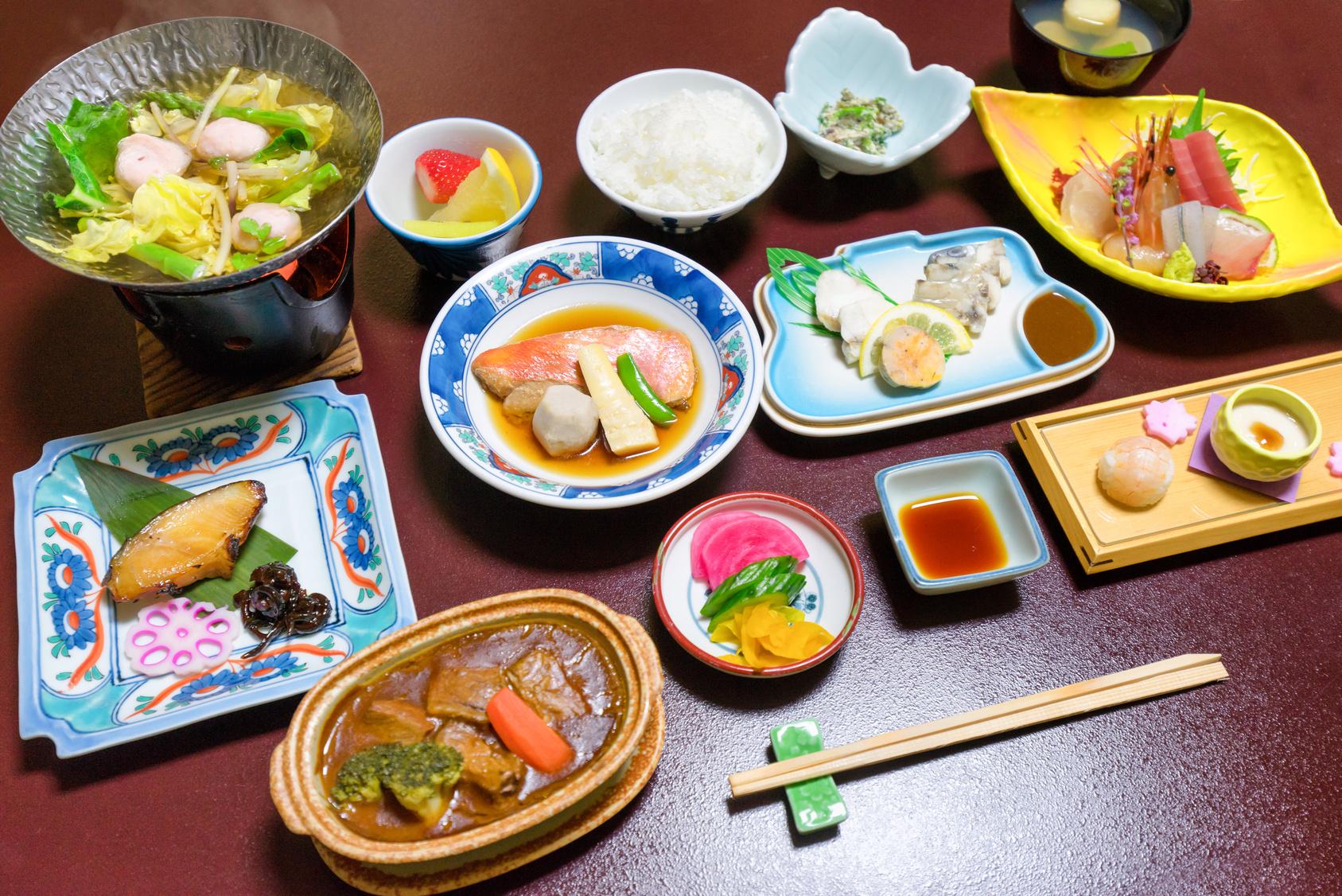 diner dans un ryokan au japon