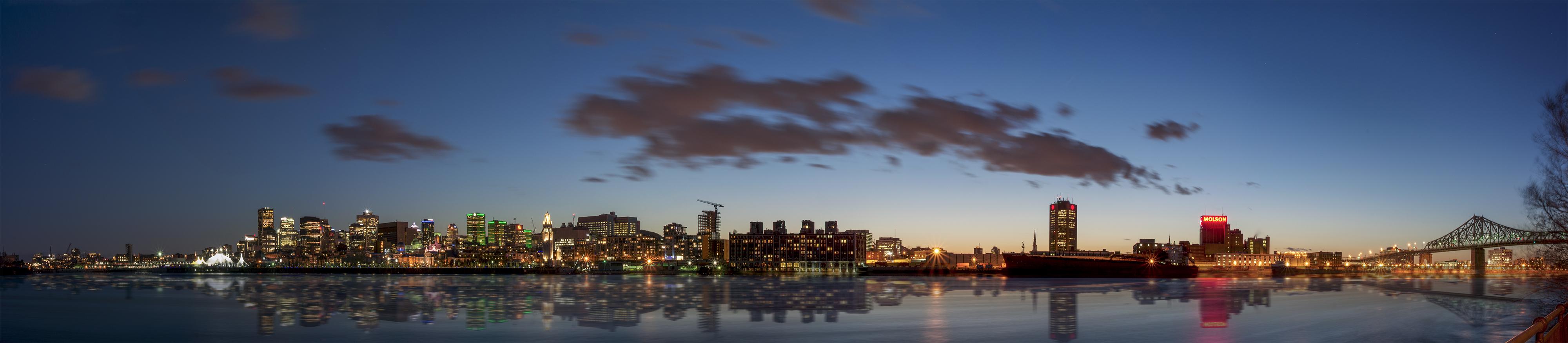 skyline ville au canada