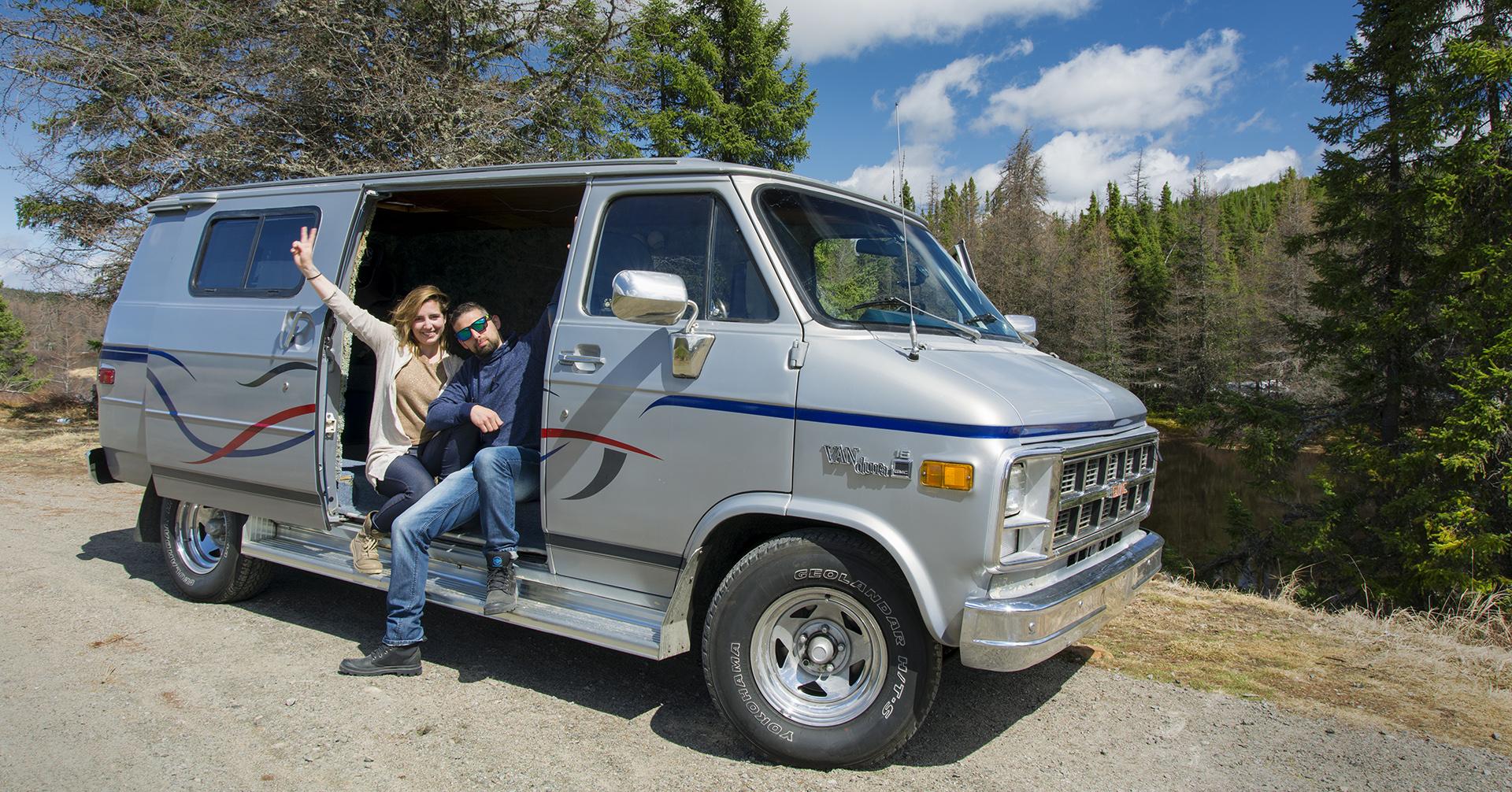 van pour le road trip au canada