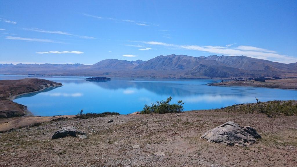Randonnée aux abords du Lake Tekapo, idéal pour un pique nique