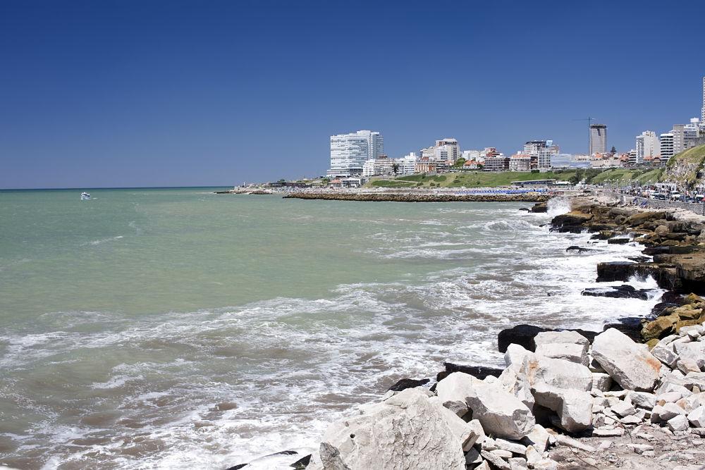 Mar del Plata sur la côte atlantique de l'Argentine