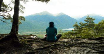 Pensée dans les montagnes de nouvelle zelande