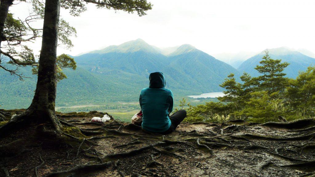 pause dans les montagnes de nouvelle zelande