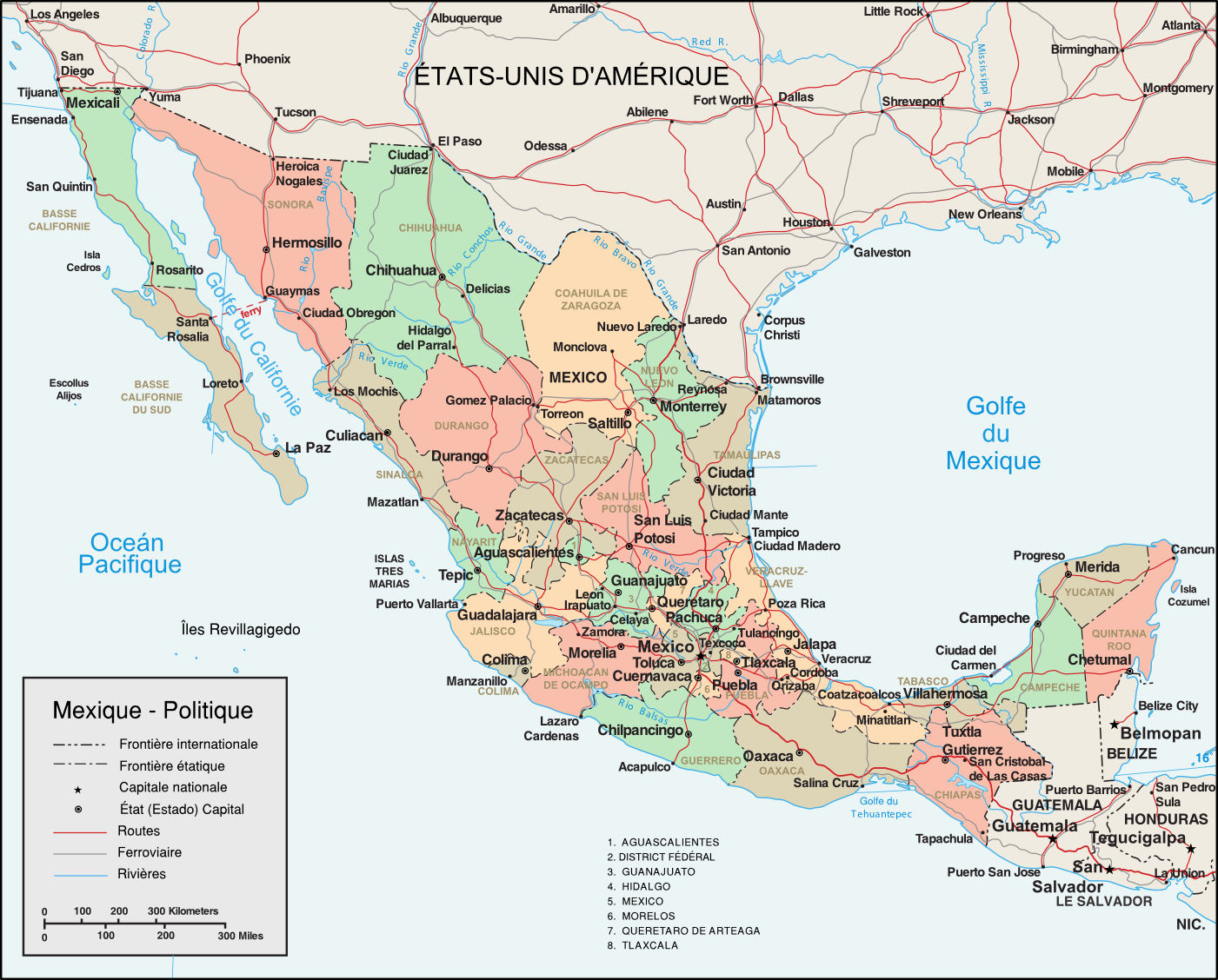 carte_administrative_du_mexique