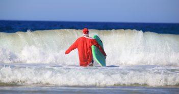 Noël à l'étranger, sur la plage en Australie