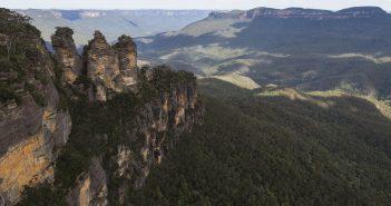 paysage dans les blue mountains en australie