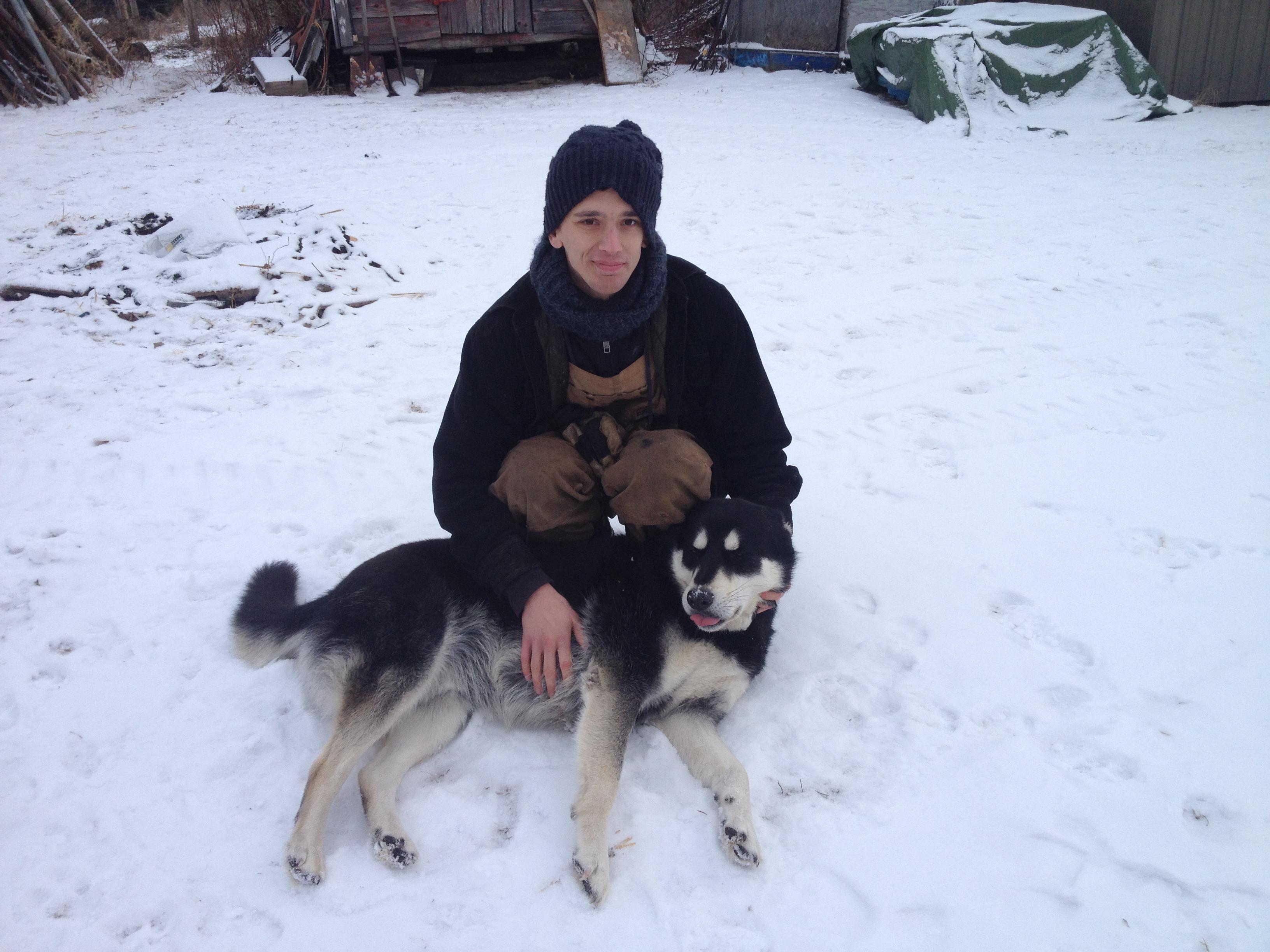 Jérôme a entraîné des chiens de traîneau au Canada