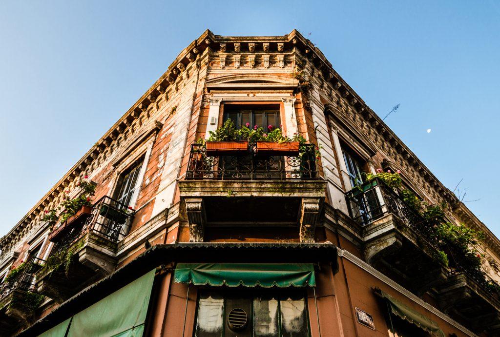 facade d'un immeuble a buenos aires