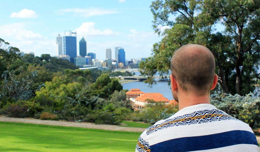 vue sur le centre ville de Perth