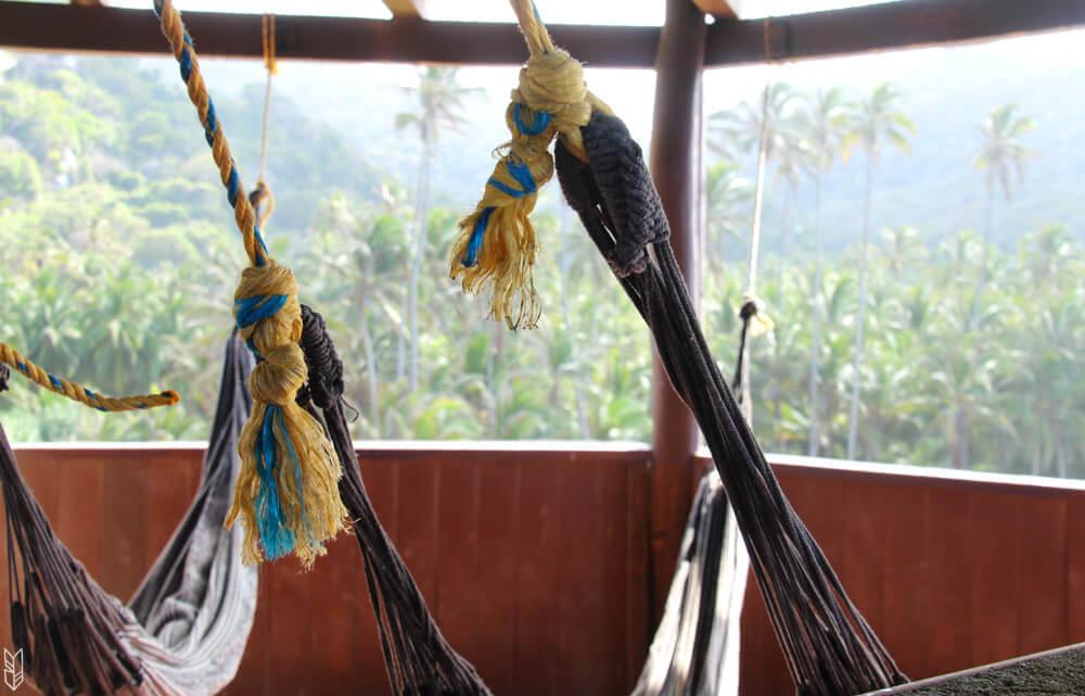 "les hamacs un mode d""hébergement dans le parc tayrona"