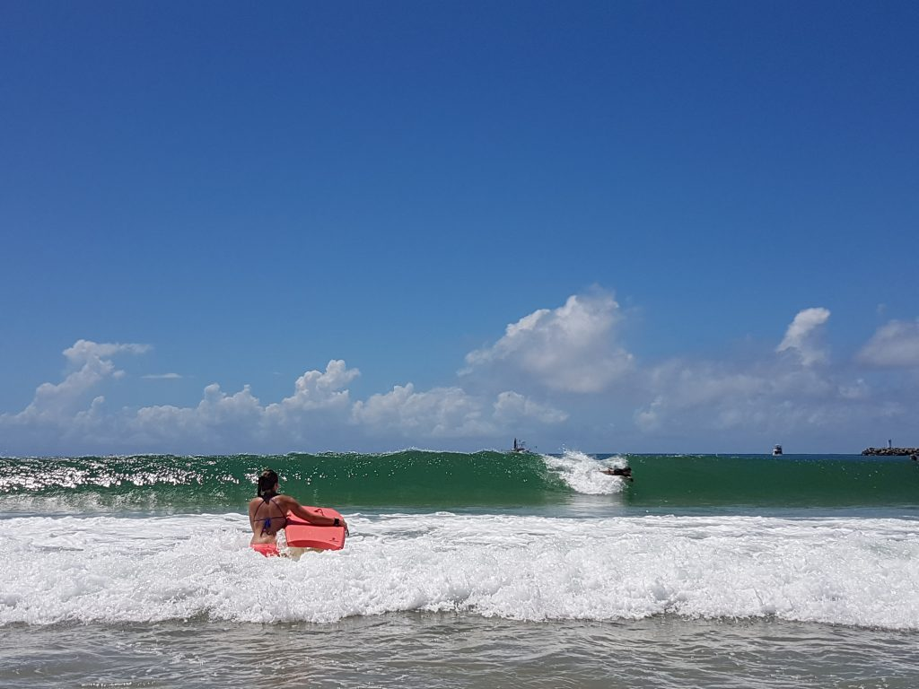Surf à Mooloolaba Spit Beach