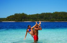 se baigner a Fraser Island
