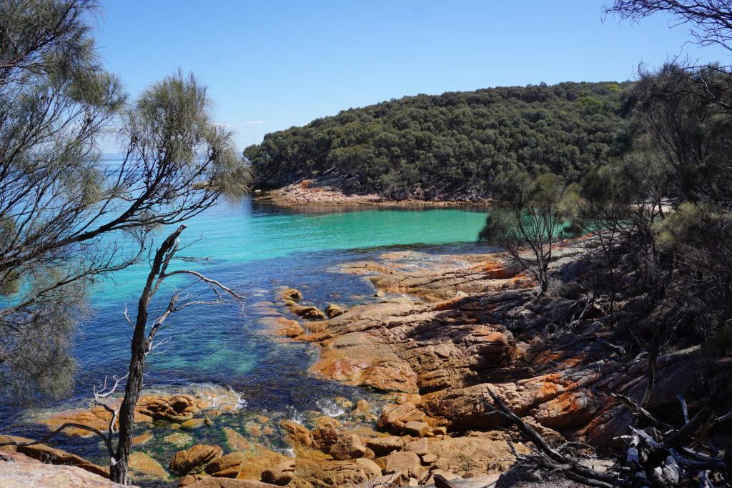 plage de reve en tasmanie