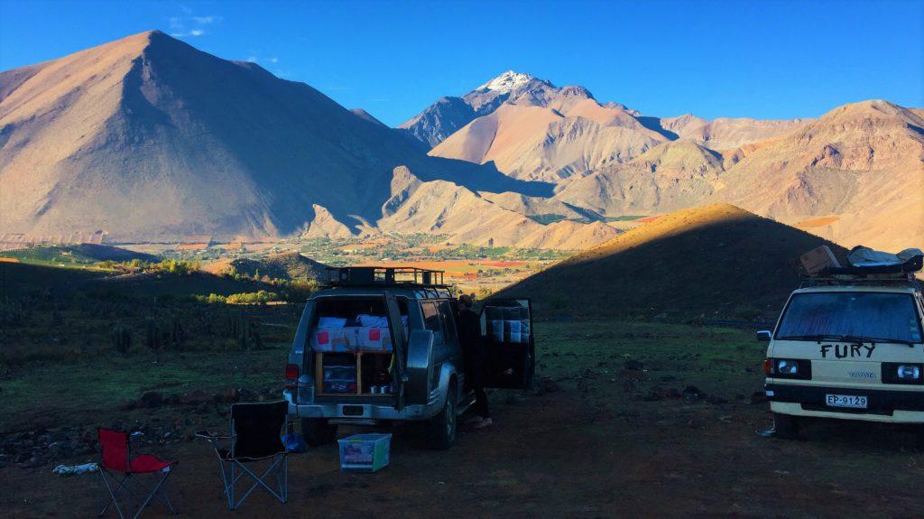 dormir au pied du Cerro Mamalluca