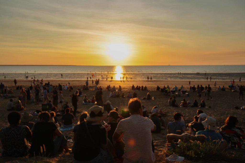 coucher de soleil sur Mindil Beach