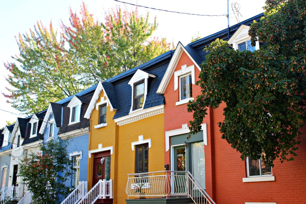 Rue Drolet sur Le Plateau a Montreal