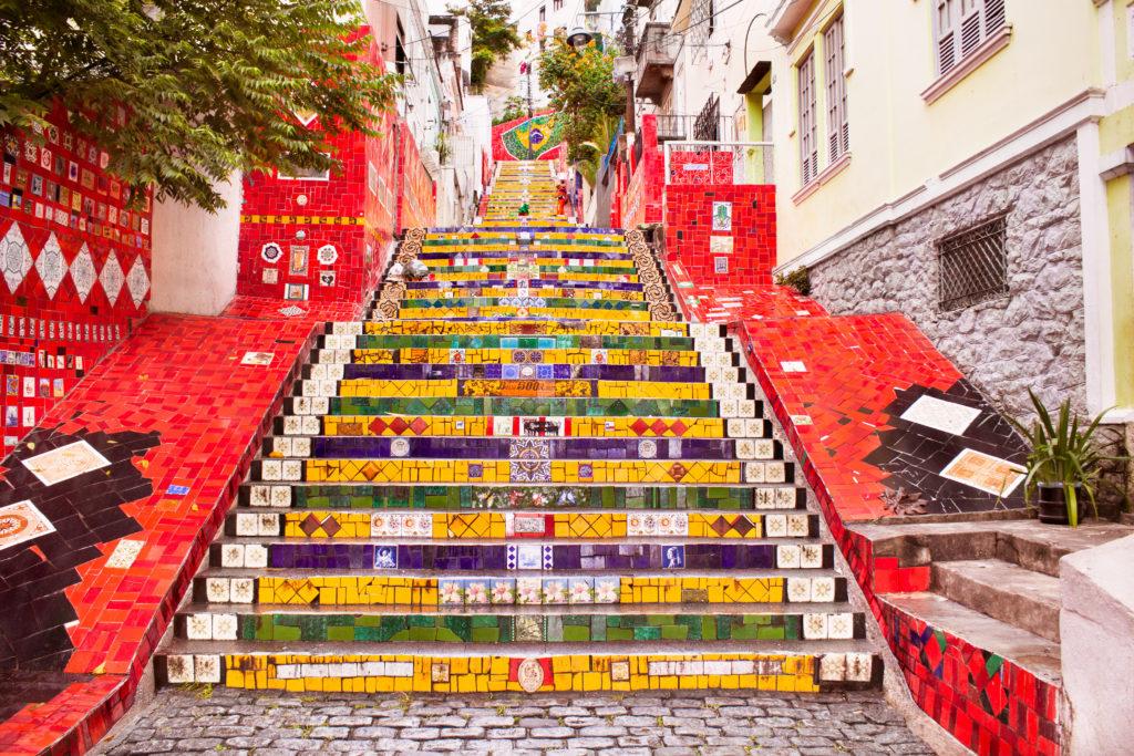 escaliers Selaron a Rio de Janeiro
