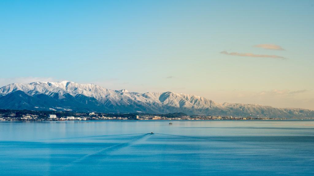 le lac Biwa au japon