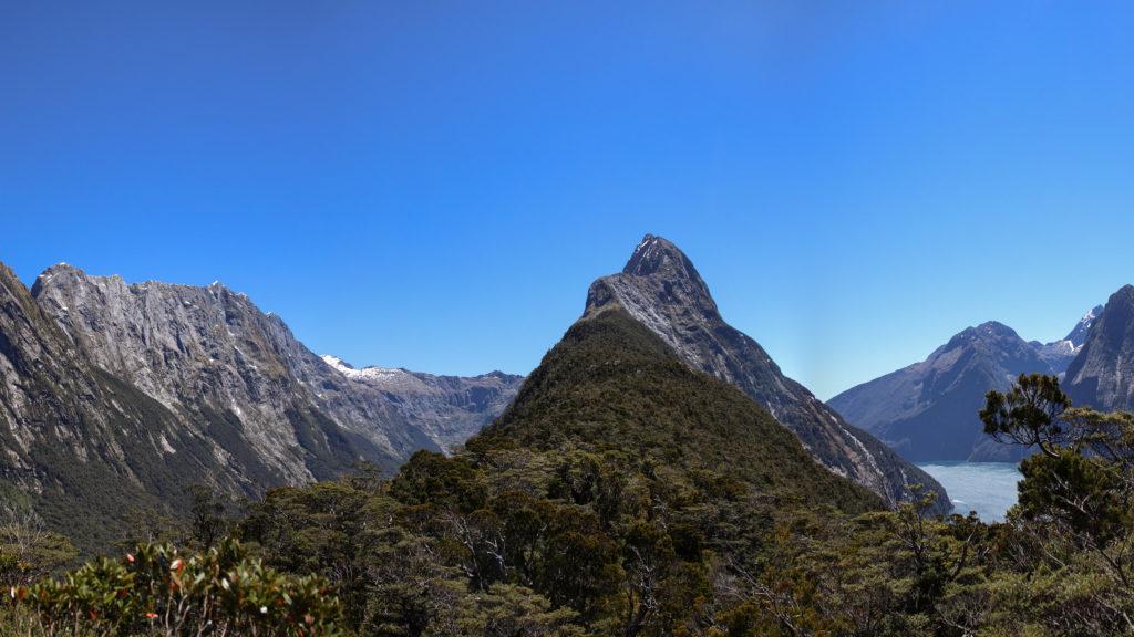 randonnée sur le mitre peak