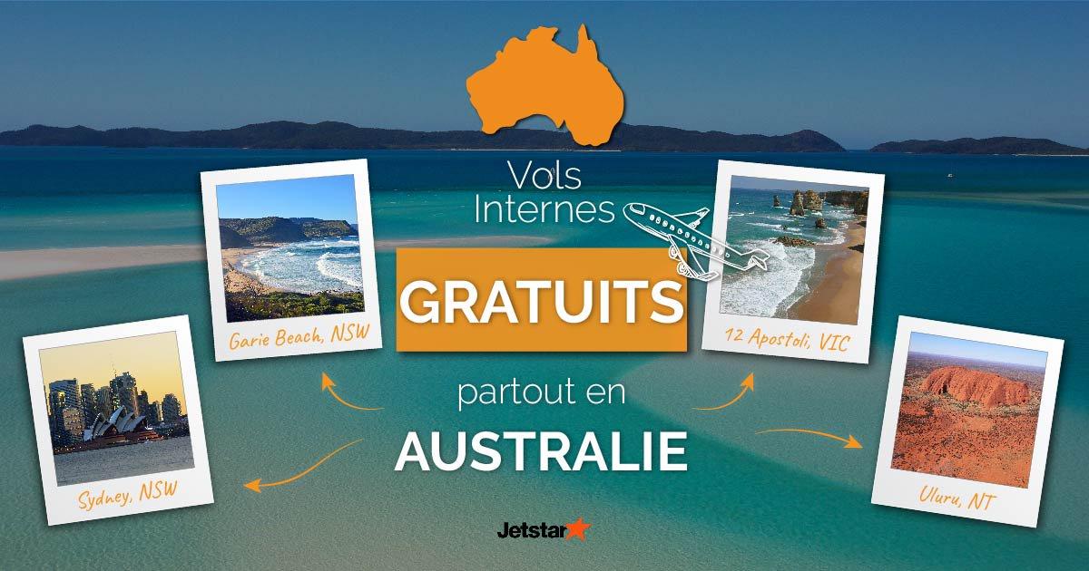 Des vols internes à travers l'Australie offerts par Go Study Australia